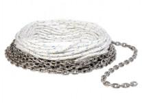 Ligne de mouillage mixte cordage / chaîne inox