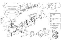 Dimensions standard / pompe à eau de mer / 37245-30xx